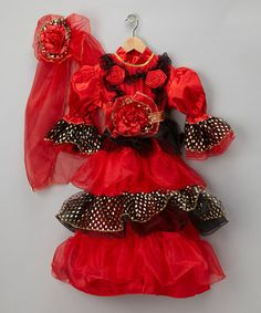 Red Spanish Dancer Dress-Up Set - Toddler & Girls by Dress Up America on #zulily