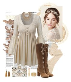 """""""Lovely Lace"""" by bri-love ❤ liked on Polyvore featuring LE3NO, Etro, Topshop, Charlotte Russe, Lanvin, Napoleon Perdis, KOTUR, lacedress and otkboots"""