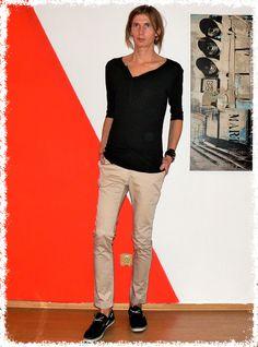 Androgyny, Khaki Pants, Fashion, Moda, Khakis, Fashion Styles, Fashion Illustrations, Trousers