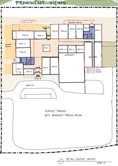 Mixed use retail+residential space planing