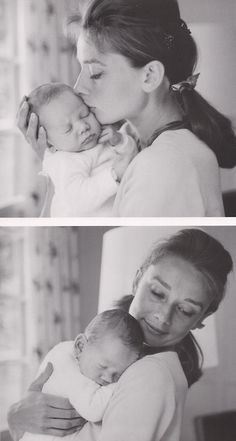 Audrey Hepburn (if in my imagination only). Her son, too. This picture is beautiful and sweet.