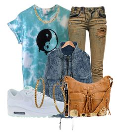 """""""Untitled #921"""" by xhappymonstermusicx ❤ liked on Polyvore featuring Balmain, SO Central, NIKE and BCBGeneration"""