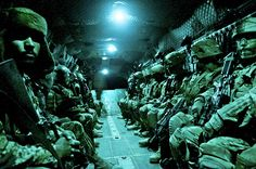 Air assault  Paratroopers with the 82nd Airborne Division's 1st Brigade Combat Team and Afghan National Army soldiers with 6th Kandak, 203rd Corps, travel aboard a CH-47 Chinook heavy lift helicopter during an air assault mission May 4, 2012, Ghazni Province, Afghanistan. U.S. Army photo by Sgt. Michael J. MacLeod