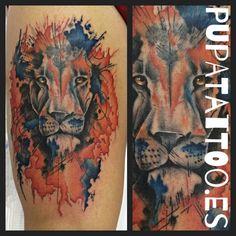 https://flic.kr/p/ETALKW | Tatuaje León Pupa Tattoo Granada | Pupa Tattoo Art Gallery     C/Molinos, 15     18009 Granada     Spain     Telf.: 958 22 12 80     instagram.com/pupa_tattoo     twitter.com/PupaTattoo     www.pupatattoo.es