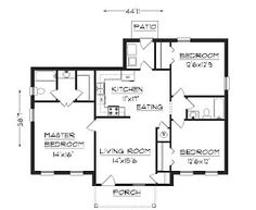 44b1f2923c44217af392d0fc9cd6d653 simple house plans simple floor plans ranch style house plans 1314 square foot home , 1 story, 3,One Storey House Floor Plan