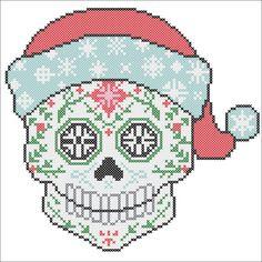 BOGO FREE Cross stitch SUGAR Skull Santa Fun Christmas pdf
