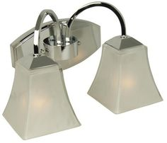 Craftmade 14213CH2 2 Light Halstead Bathroom Light by Craftmade. $81.70. Finish:Chrome, Glass:Frosted, Light Bulb:(2)60w A19 Med F Incand Halstead Series Two-Light Vanity  Features:   60 Watt Porcelain Sockets  Rust Resistant Socket Threads. Save 43%!