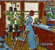 David Milne - Red, 1914 oil on canvas × cm Milne Family Collection Photo: Michael Cullen, Toronto, Canada Canadian Painters, Canadian Artists, David Milne, Dulwich Picture Gallery, Collage Artwork, Great Paintings, Modern Artists, Famous Artists, New Art