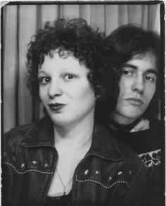 Happy birthday, Nan Goldin! Photo booth, with Allen Frame, c. 1978