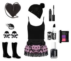 """""""Punk rock"""" by squadleo on Polyvore featuring Christopher Kane, Hell Bunny, M&Co, Nature Breeze, Billabong, Bobbi Brown Cosmetics, Essie, NYX, women's clothing and women's fashion"""