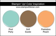Stampin' Up! Color Inspiration: Pool Party, Soft Suede, Peekaboo Peach
