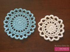 Free Crochet Doily pattern ||www.craftaholicsanonymous.net