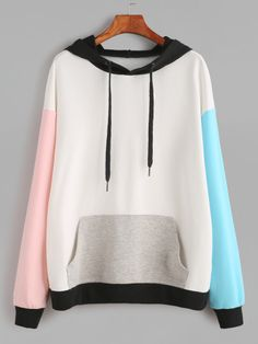 To find out about the Drop Shoulder Pocket Front Hooded Sweatshirt at SHEIN, part of our latest Sweatshirts ready to shop online today! Fashion Mode, Teen Fashion, Korean Fashion, Fashion Outfits, Pastel Fashion, Kawaii Fashion, Cute Sweatshirts, Hooded Sweatshirts, Cotton Hoodies