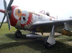 "Nose art on the Republic P-47 Thunderbolt ""Chief Ski-U-Man II""."