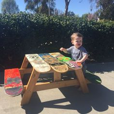 PRE-HOLIDAY SALE skateboard table skateboard by ShredShopCA(Diy Furniture For Kids)