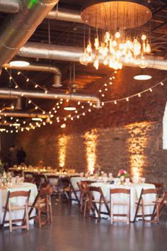 Bright Event Productions #Industrial #chic #wedding in refurbished #Warehouse #reception #area