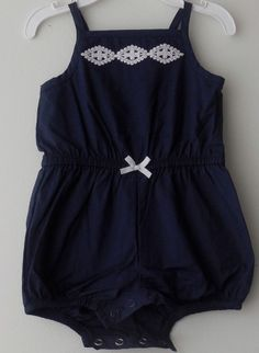 CARTER'S Baby Girl Summer Outfit Romper Creeper Size 3 Months Sleeveless Cotton