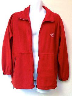Vtg NORTH FACE Men GORE-TEX Red LS Lightweight FLEECE Windstopper Jacket L