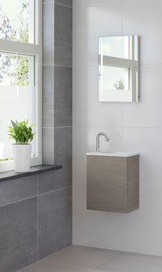 Bruynzeel Hello fonteinmeubel olm grijs // badmeubel badkamer sanitair / bathroom furniture cabinet cloakroom washbasin / meuble salle de bain lave-mains