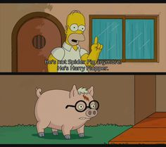 All you need is: Spider Pig! Uh, I mean, Harry Plopper!