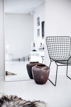 Chair, Mirror, Fur