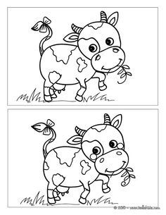 Cow AND Compare and Contrast Mazes For Kids, Bible For Kids, Worksheets For Kids, Kids Activity Books, Preschool Activities, Activities For Kids, Find The Difference Pictures, College Crafts, Learning Cards