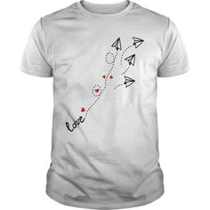 love letter plane T-Shirts, Hoodies. BUY IT NOW ==► https://www.sunfrog.com/LifeStyle/love-letter-plane-T-Shirt-White-Guys.html?id=41382