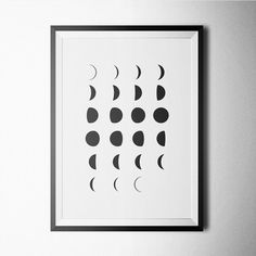 White Moon poster design for home or office decoration.