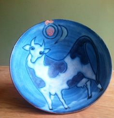 Tessa Fuchs ceramic bowl - cow. 2000