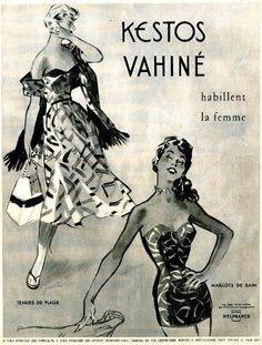 Original-Anzeige / Annonce 1953 - (en français) KESTOS VAHINÉ - ca. 240 x 300 mm   eBay