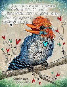 Little Bird Quotes Art Prints 60 Trendy Ideas Art And Illustration, Kingfisher Bird, Bird Quotes, Robin Bird, Bird Drawings, Zentangle Drawings, Art Prints Quotes, Cute Birds, Bird Prints