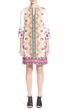 ETRO Paisley Print Silk Tunic Dress. #etro #cloth #