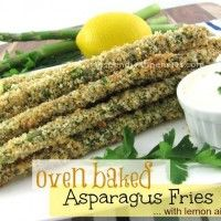 Oven Baked Asparagus Fries with Lemon Aoli