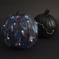 Light-Up Galaxy Pumpkin