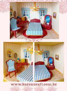 Papercraft house - Bedroom | Karencraft