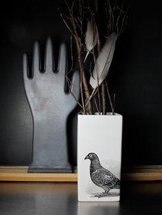 Pigeon Vase on Etsy, $26.00