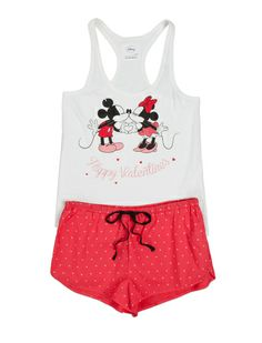 women'secret | Las + divertidas | Mickey & Minnie | Pijama corto de Mickey y Minnie en algodón