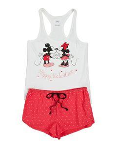 women'secret | Las + divertidas | Mickey & Minnie | Pijama corto de Mickey y Minnie en algodón