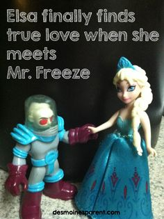 Elsa meets her perfect match when she runs into Mr. Freeze.