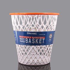 """Spalding® Hoopster® """"Crunch Time"""" Basketball Net Wastepaper Basket"""