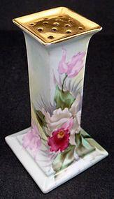 Antique Austrian Porcelain Hat Pin Holder, Paul Putzki Austria, circa 1900 produced by Oscar & Edgar Gutherz