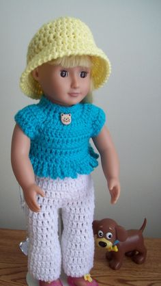 "Liquid Sunshine; 18"" doll - image intense - Free Original Patterns - Crochetville"