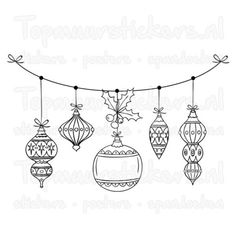 Hope you can utilize them to decorate your glass walls. Little children like those patterns most. Illustration Noel, Illustration Art Drawing, Christmas Illustration, Christmas Baubles, Christmas Art, Christmas Decorations, Vintage Christmas, Christmas Doodles, Christmas Drawing