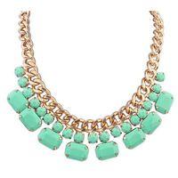 Hot Selling Fashion Elegant Alloy Acrylic Necklace
