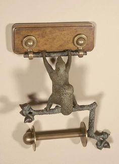 Maitland-Smith at Hinson Galleries, Inc. Brass Squirrel Tissue Holder