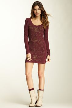 Nice except for the boots-Free People Waiting Tunic Dress