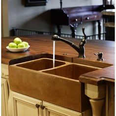 Double Bowl Farm Sink in Stainless Concrete from J. Aaron