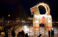Tradições de Natal pelo mundo - O Bode Gävle, na Suécia, tão admirado quanto perseguido