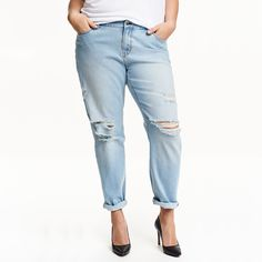 167e3ad648a23 Light blue washed ripped denim pants Plus size   Item is FREE Shipping  Worldwide!     fashion  autumn  winter  spring  trending  latest  new