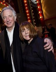 Alan Rickman and wife Rima have been happily together for over 50 years.